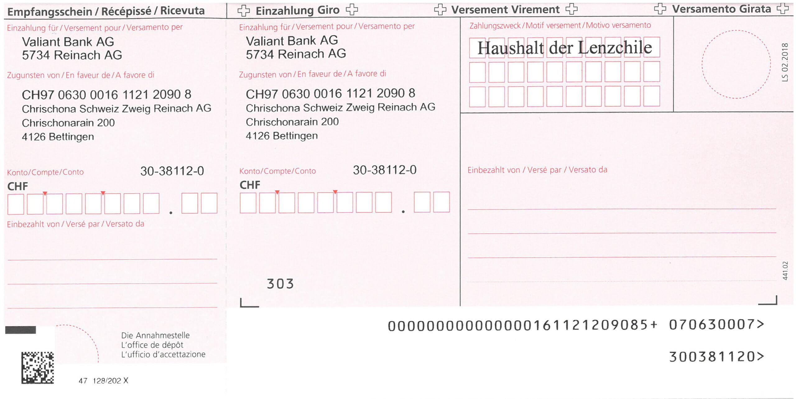 EinzahlungsscheinHaushalt